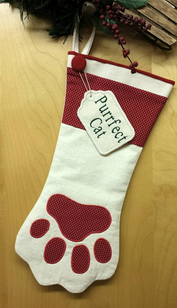 Personalized Dog Or Cat Christmas Stocking
