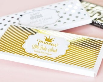 Princess Candy Bar Wrapper - Princess Candy Wrappers Princess Party Favors Princess 1st Birthday Party Ideas for a Girl (EB4001FB) 24| pcs