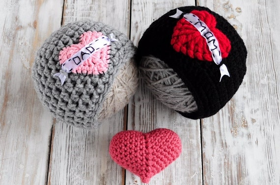 crochet Hat. Hat heart. Valentines day Hat. Hat I love mom. Hat ...