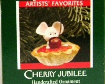 1989 Cherry Jubilee Hallmark Retired Ornament