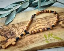 Anglican Bethlehem Tree Olive Wood Beads Christian Prayer Handmade Rosary Cross