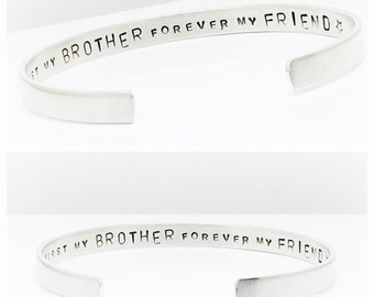 Mens Gift | Brother Gift | Gifts for Men | Gifts for Him | Personalised Custom Brother Bracelet by Glam and Co M301