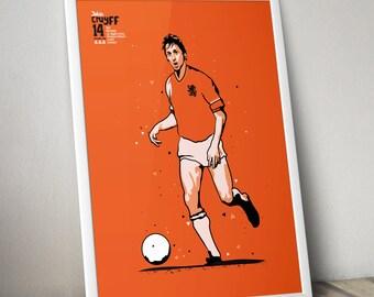 Johan Cruyff - Netherlands Print