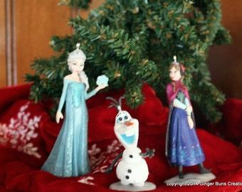 Disney Frozen ornament set Anna Elsa Olaf