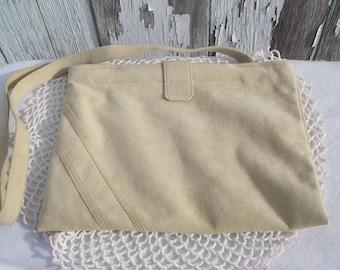 Vintage Purse,  Butter Soft Suede Purse,  Shoulder Bag,  Clutch, Leather Bag
