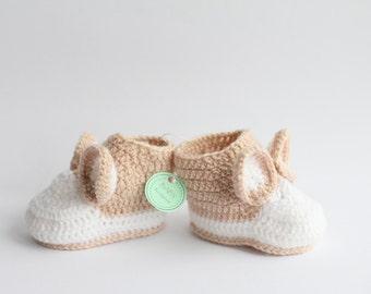 Crochet baby booties-baby booties-crochet baby girl booties-crochet baby boy booties-teddy booties-crochet infant booties-newborn booties