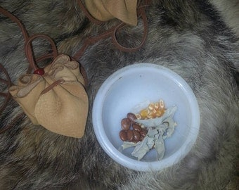 Hand Made, MEDICINE POUCH Sacred with Contents