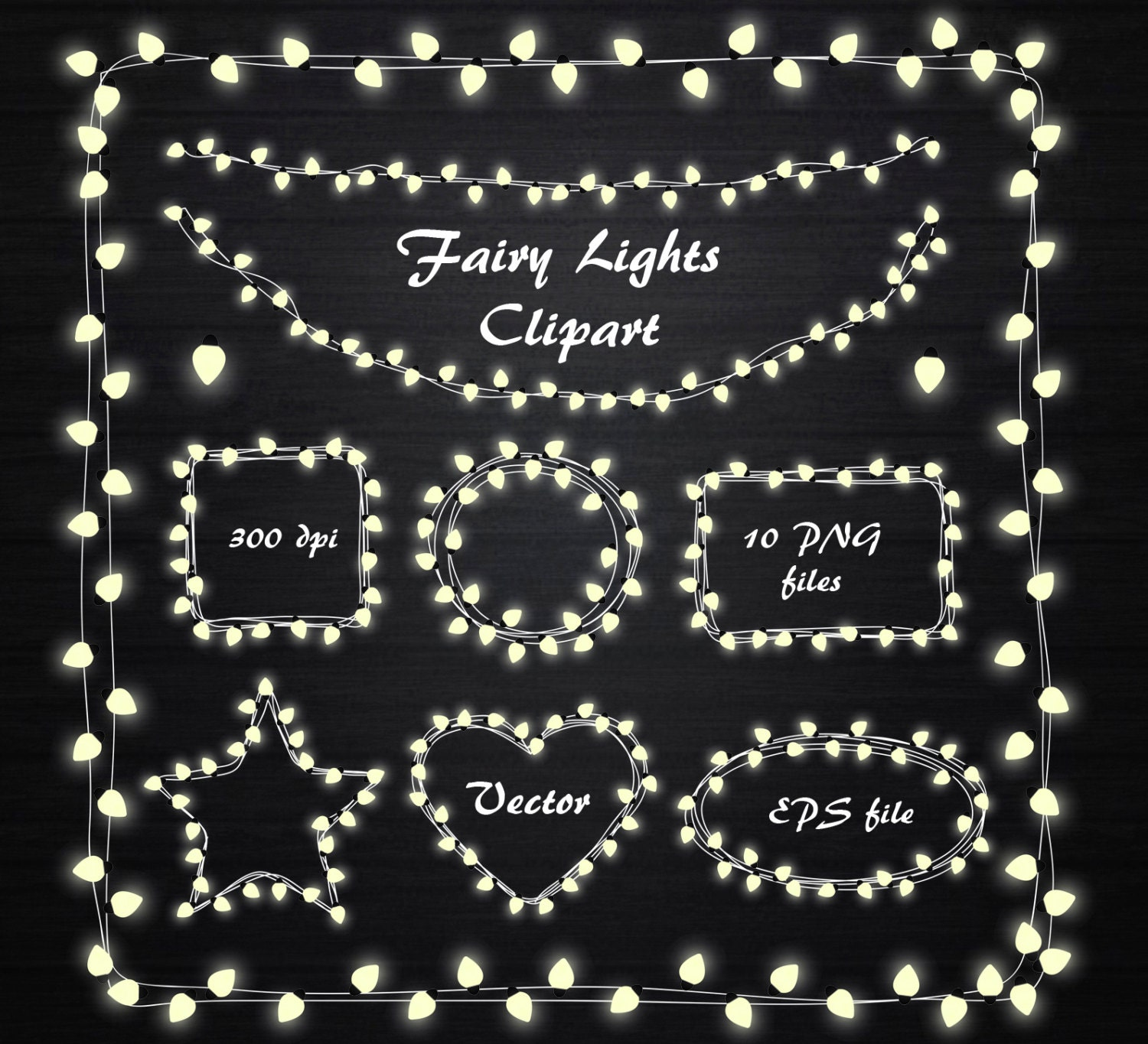 Fairy Lights Clipart String Lights Clipart Fairy Lights
