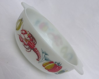 Large JAJ Lobster Casserole Dish. English Pyrex James A Jobling Serving Dish. 60s Vintage Kitchen.
