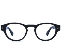 Black pantos shape acetate reading glasses and prescription eyeglasses for women and men