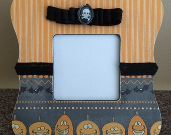Halloween Pumpkin Picture Frame / Free shipping