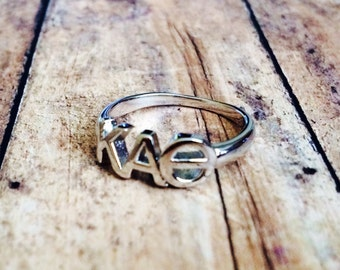 Kappa Alpha Theta Classic Letter Ring   Sorority Ring   Kappa Alpha Theta Ring   Theta Ring   Kappa Alpha Theta Jewelry   Sorority Jewelry