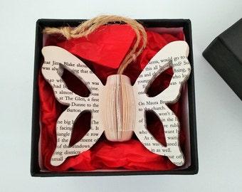 Miniature Butterfly Book Art - Presentation Box - Unusual unique