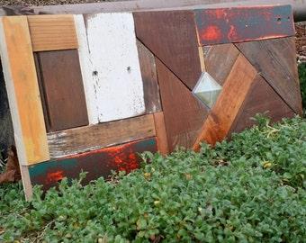 Reclaimed Wood Wall Hanging Mosaic