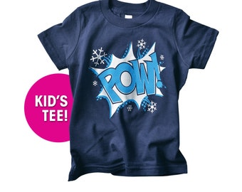 POW! Kid's Snow Ski T-shirt