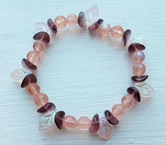 Iridescent Leaf Bracelet