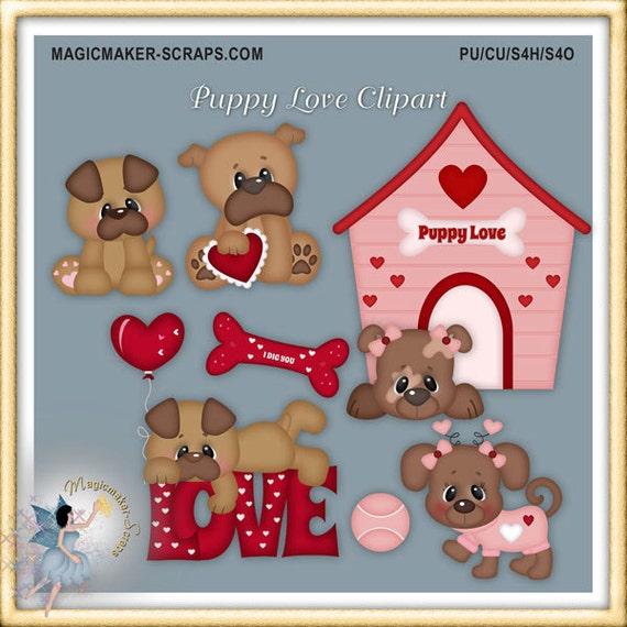 valentine puppy clipart - photo #35