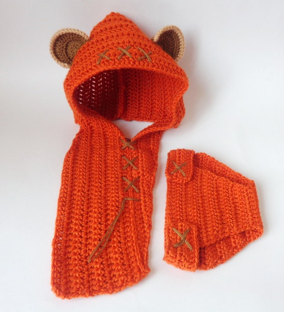 Ewok Hat: Ewok Baby Hood And Diaper Cover Costume Set From Star Wars For