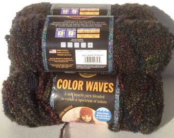 Lion Brand Yarn, Lion Brand Color Waves, Boucle Yarn, Yarn Lot, Lion Brand Lava, Color Waves Lava, Bulky Boucle, Lion Brand Boucle