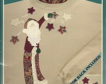 Holiday Fabric Appliques (Santa with Stars
