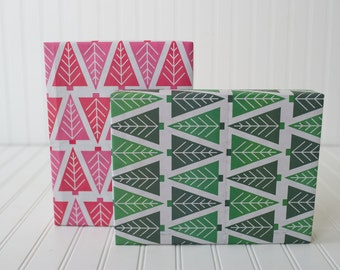 Ecofriendly Reversible Christmas Trees Wrapping Paper // Decorative Paper for the Holidays