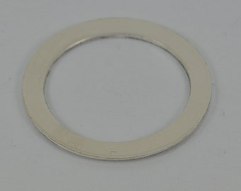 16mm Narrow Sterling Silver Washer Blank 1.00mm X 16mm Round