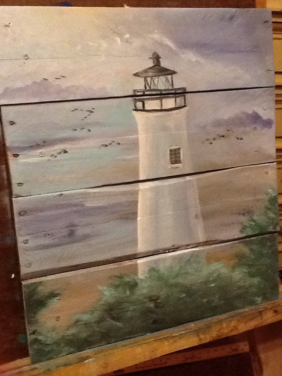 Ocean beach scape pallet art sign nautical by ...