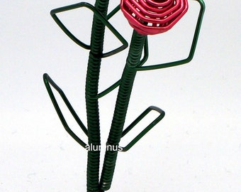 Hand Made Wire Twin Red Roses