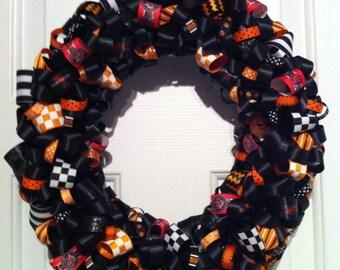 Handmade Cincinnati Bengals Ribbon Wreath