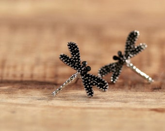 Silver Studs * dragonflies * e096s