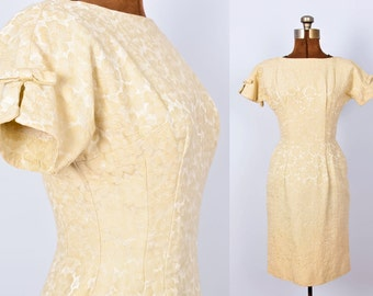 1950s Helen Whiting Brocade Wiggle Dress