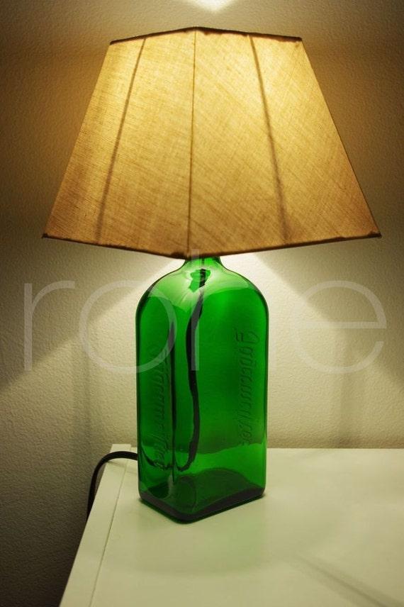 hnliche artikel wie upcycled flasche lampe diy. Black Bedroom Furniture Sets. Home Design Ideas