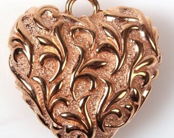 18K ROSE Gold Heart Pendant