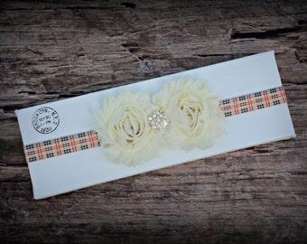 Ivory Headband Infant Baby Toddler Girl Birthday Prop Gift