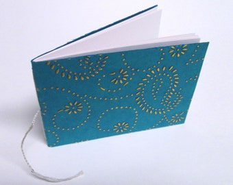 BARGAIN BIN: Teal and Silver Paisley Notebook