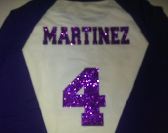 Add on a Name & Number to your Shirt Order