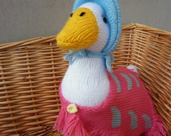 Alan Dart Jemima Puddle Duck Knitting Pattern : Puddle duck knit toy Etsy