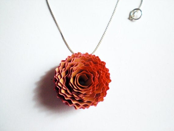 Pink Mandala necklace. Wooden pendant.