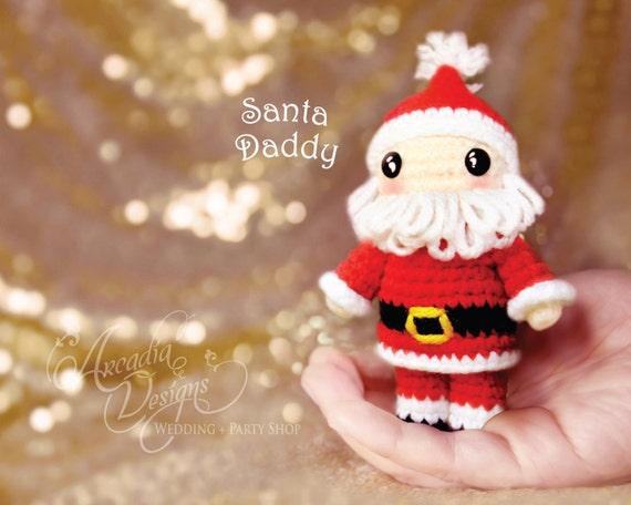 Christmas Ornament Crochet Amigurumi Santa Claus Doll