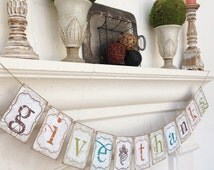 GIVE THANKS Printable DIgital File banner garland bunting decoration