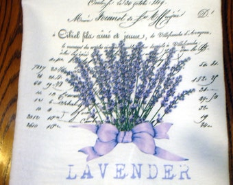 Flour Sack Kitchen Towel Lavender