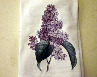 Flour Sack Kitchen Towel Lilac