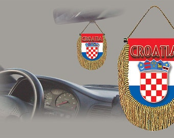 Croatia rear view mirror world flag car banner pennant