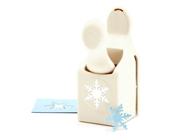 Alpine Snowflake Hole Punching Tool, Create Snowflake Shapes With This Crafting Hole Puncher, Holiday Winter Hole Punching For Scrapbooking