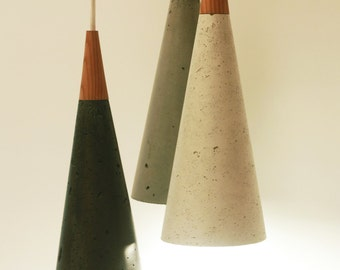 Concrete Cone Lamp