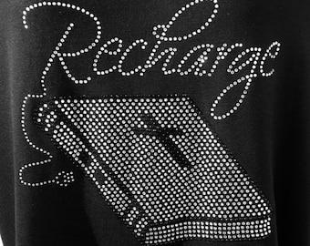 Recharge Rhinestone Tshirt/Faith/Bible/Bling