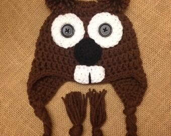 Crochet Groundhog Hat