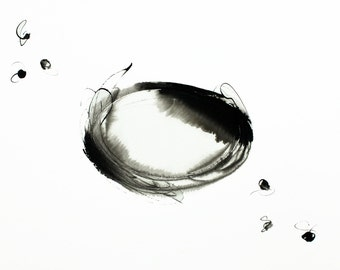 Original Abstract Ink Drawing 16,5 x 11,7 inch (A3- 29,7 x 42 cm )  on paper Sumi340