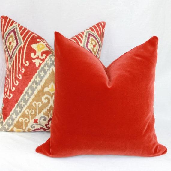 Items Similar To Burnt Orange Velvet Pillow Cover 18 Quot X
