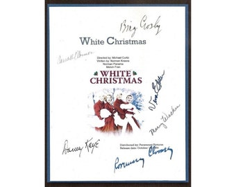 White Christmas Movie Script Signed Screenplay Autographed: Bing Crosby, Danny Kaye, Rosemary Clooney, Vera-Ellen, Mary Wickes